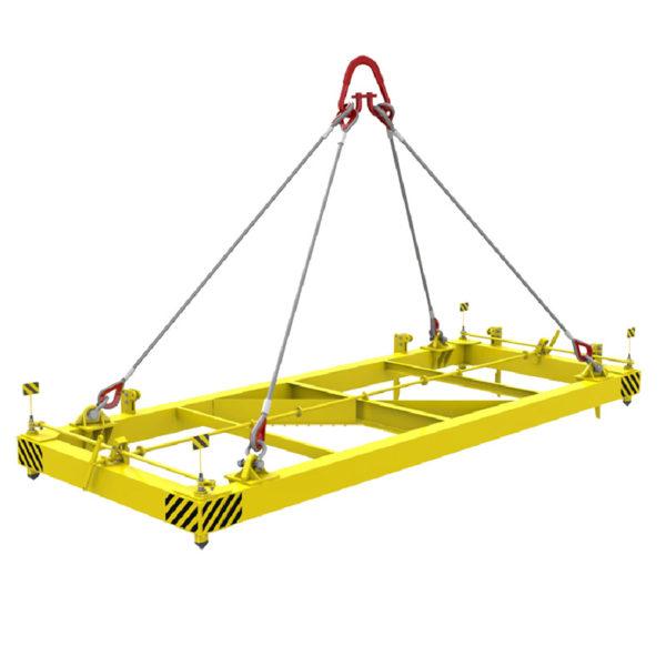 Траверса ТРВ2 для контейнеров 20 футовых полуавтоматическая 24 тонны