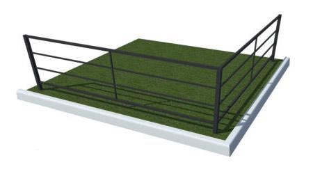 ограда газонная металлическая