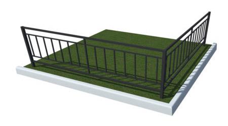 простое ограждение для газона