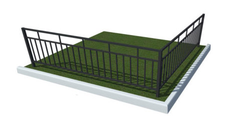 эскиз простой газонной ограды для клумбы