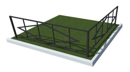 забор для газона металлический купить заказать в тюмени