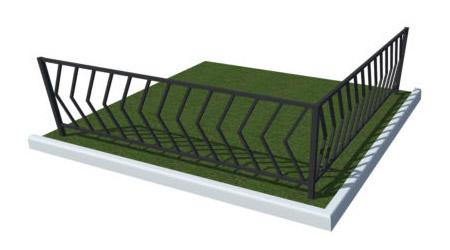 установка ограждений уличных для газонов в тюмени цена