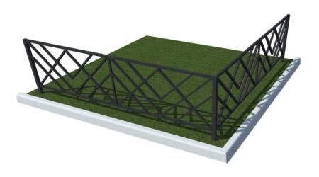 кованые металлические ограды для могил