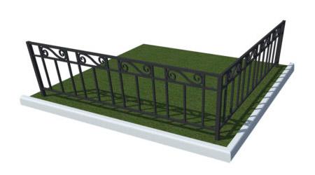 кованые красивые оградки на могилку